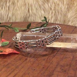 """Vintage sterling silver unisex bracelet. 8"""""""